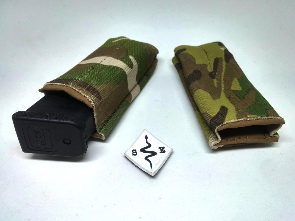 pistol magazine pouch elastic tactical multicam