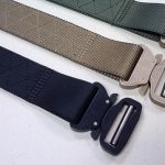 "Cobra Riggers Belt 1.75"" with Zig Zag stitch pattern. Ranger Green, Coyote, and Black."