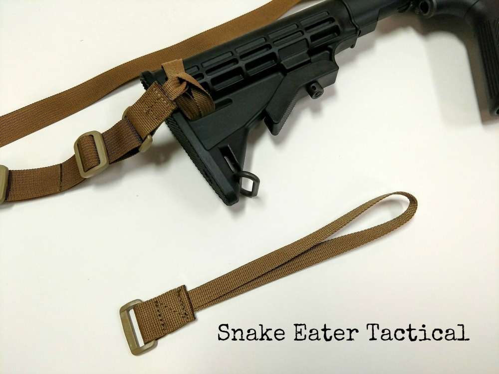 2 point rifle sling simple quick adjust snake eater tactical attachment loop buttstock