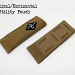 Vertical horizontal magazine knife pouch