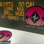Sunset sticker on ammo can for web